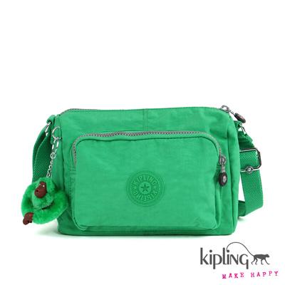 Kipling-斜背包-漾彩草綠素面