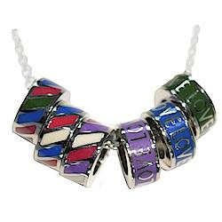 Brosway 不鏽鋼項鍊 藍/紫/綠