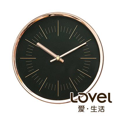 Lovel 16cm 簡約玫瑰金框靜音時鐘-共3款