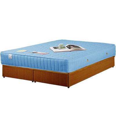 《Homelike》麗緻6尺床台+獨立筒床墊-雙人加大(四色可選)