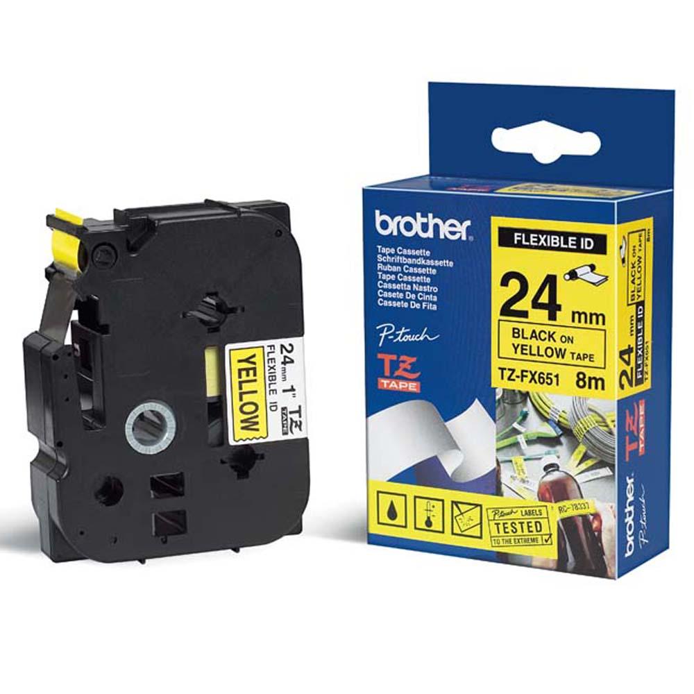 Brother 24mm可彎曲護貝標籤帶 (TZ-FX651)