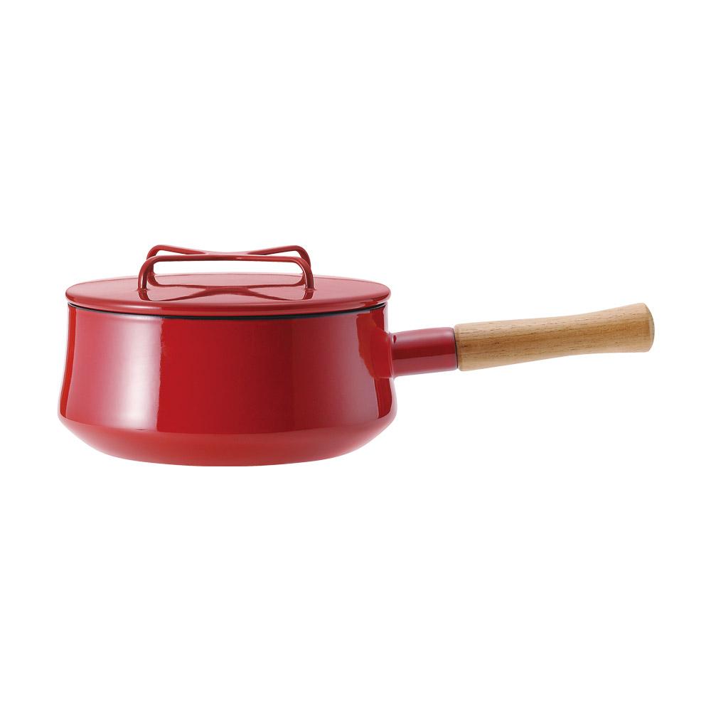 DANSK琺瑯單耳燉煮鍋紅色
