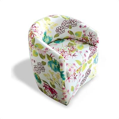 愛比家具-蘿絲花語單人座布沙發