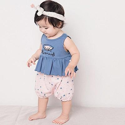 Baby unicorn 藍粉星星無袖套裝2件組