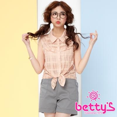 betty-s貝蒂思-層次打褶蕾絲荷葉無袖襯衫