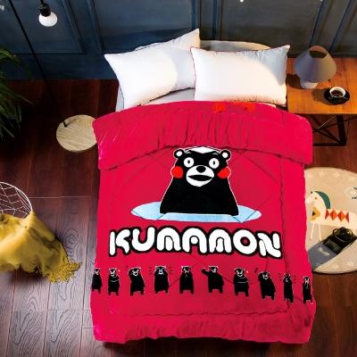 Kumamon熊本熊 水果派對 加厚法蘭絨暖呼呼造型暖被一入