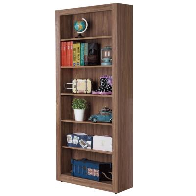 品家居 蘿絲瑪麗2.7尺柚木色開放書櫃