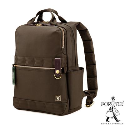 PORTER - 經典新進化NEW HEAT高機能時尚後背包 - 軍綠咖啡