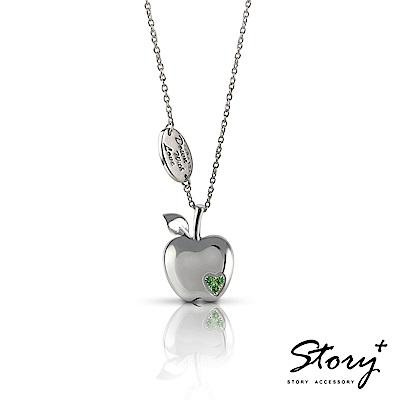 STORY ACCESSORY-就想賴著你 青蘋果之戀 純銀項鍊