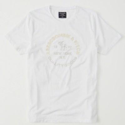 AF a&f Abercrombie & Fitch 短袖 T恤 白色 0342