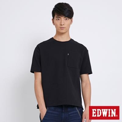 EDWIN 簡約包浩斯廂型短袖T恤-男-黑色