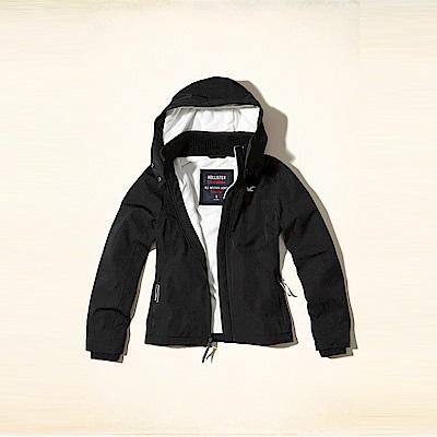 HCO Hollister 經典熱銷標誌舒適連帽風衣外套(女)-黑色