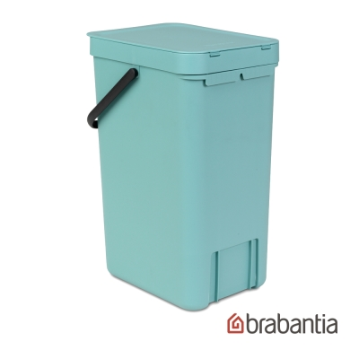 Brabantia 多功能餐廚廚餘桶16L-薄荷藍