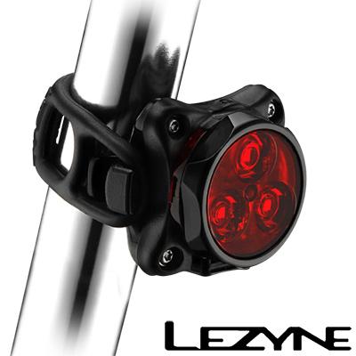 LEZYNE ZECTO DRIVE USB充電光學透鏡LED警示照明後燈(黑)