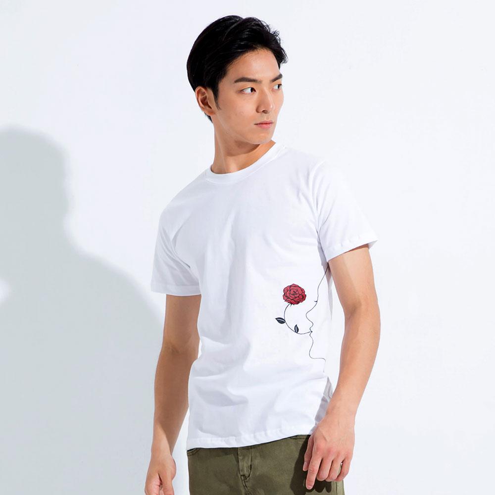 101原創 HH先生 Love圓領短袖T恤上衣-白