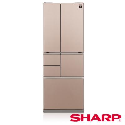SHARP夏普501L極鮮大冷凍庫變頻六門冰箱 SJ-GT50BT-T 星鑽棕/日本製