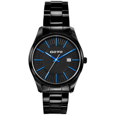 GOTO 舞台之星時尚腕錶-藍x黑/40mm