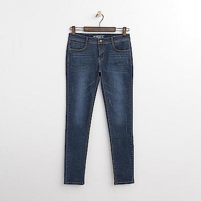 Hang Ten - 女裝 - 低腰彈性萊卡牛仔褲-深藍色