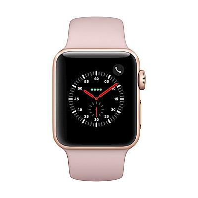 Apple Watch Series 3 行動網路,38mm金色鋁金屬錶殼/粉沙色運動錶帶