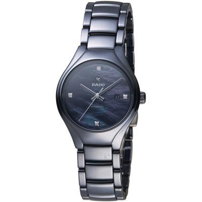 RADOTrue系列時尚陶瓷女腕錶-黑/30mm