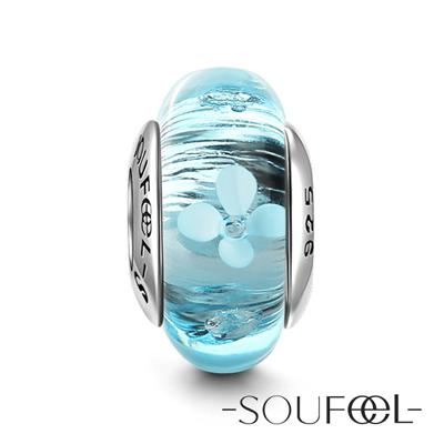 SOUFEEL索菲爾 925純銀珠飾 海洋花 琉璃珠