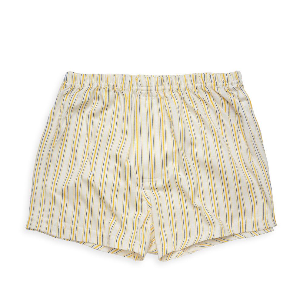 Annypepe 男童 直條平口褲_美國精梳棉 黃 100-120CM