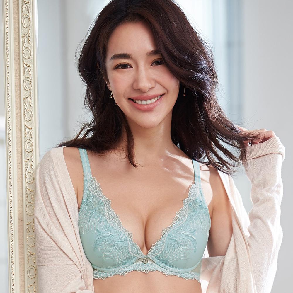蕾黛絲-歐若拉V真水 D罩杯內衣(湖水綠)