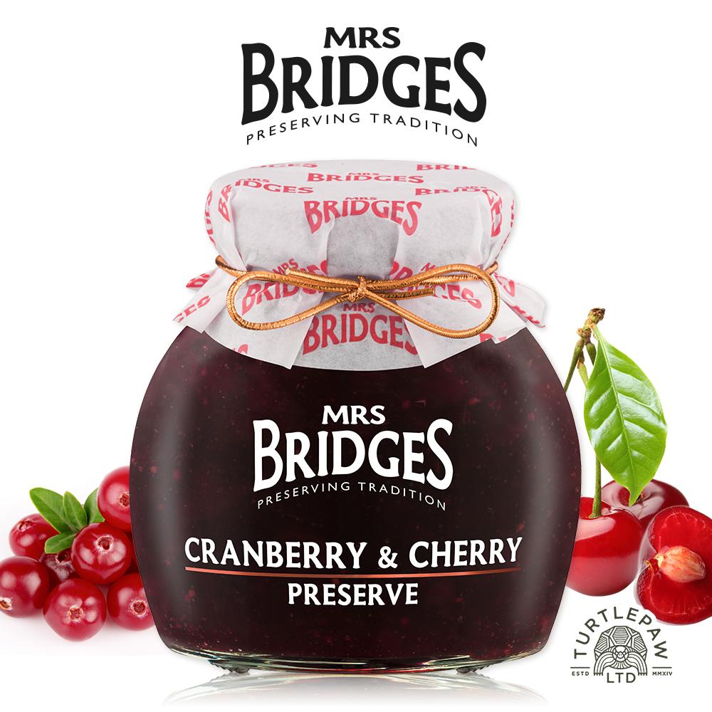 MRS. BRIDGES 英橋夫人蔓越莓櫻桃果醬 (大)340g