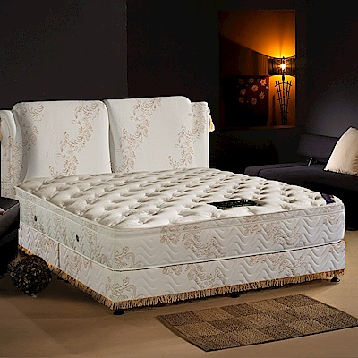LooCa法式皇妃乳膠獨立筒床組-雙人加大6尺