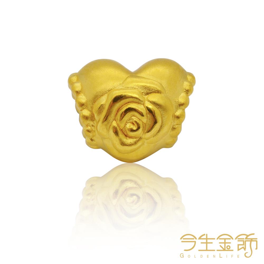 今生金飾 富貴花開手環 純黃金串珠手環