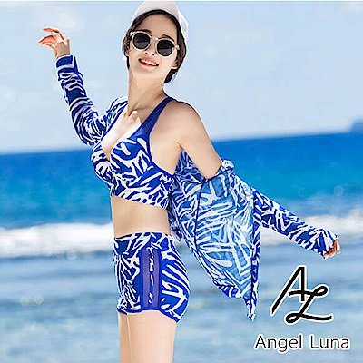 【AngelLuna】斑馬紋三件式比基尼泳裝(日本直送3-10天到貨)