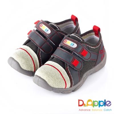 Dr. Apple 機能童鞋 MIT微笑蘋果帥氣牛仔童鞋款 灰