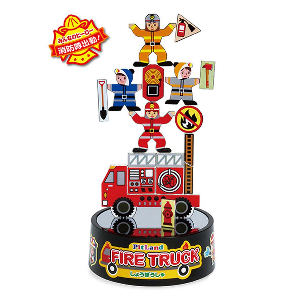 PitLand 日製磁鐵趣味玩具 消防車(5Y+)