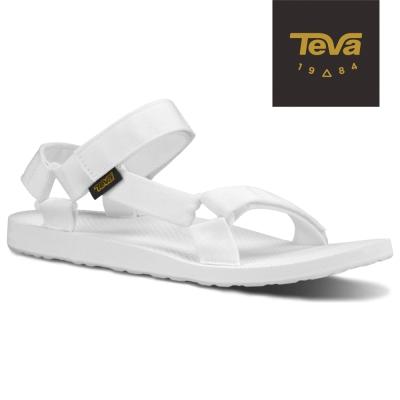 TEVA 美國-女 Original Universal 緹花織帶涼鞋 (白)