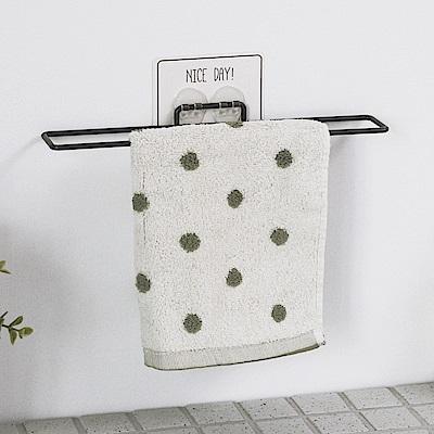 完美主義 毛巾架/掛架/烤漆/無痕貼(2入組)-30x5cm