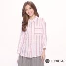 CHICA 清新文藝民族風印花設計襯衫(1色)