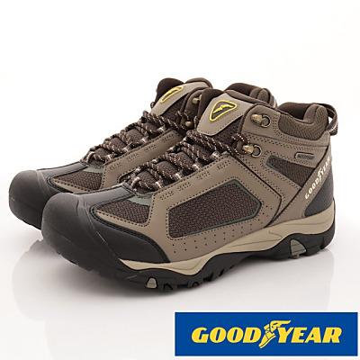 GOODYEAR-戶外護趾靜態防潑水鞋-SE3434咖啡(男段)