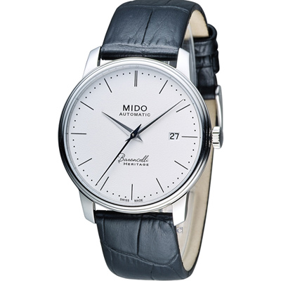 MIDO Baroncelli III 永恆系列復刻紳士機械腕錶-銀色x黑/39mm