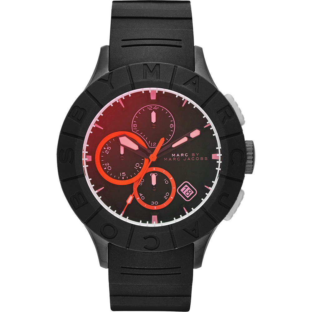 Marc by Marc Jacobs Buzz 極限運動計時腕錶-黑/44mm