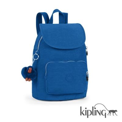 Kipling 後背包 酷藍素面-中
