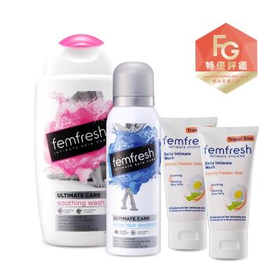 femfresh芳芯親密時刻關鍵保養組(嫩白+除味噴+淨嫩50mlx2)