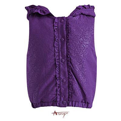 荷葉單排釦壓紋鋪棉背心*4480紫