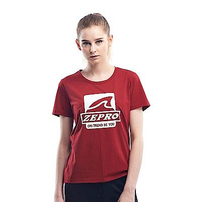 【ZEPRO】女子做自己休閒棉T-勃根地紅