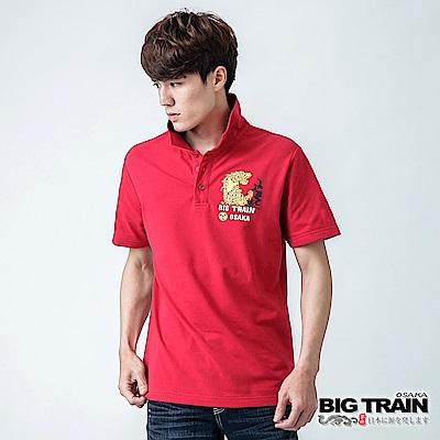 BIG TRAIN 炙焰之虎POLO衫-男-紅色
