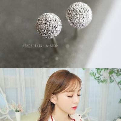 梨花HaNA  韓國925銀超迷你0.5CM圓珠豆豆耳環
