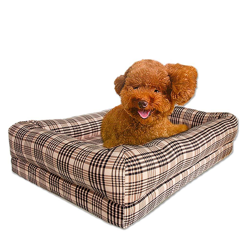 凱蕾絲帝 狂銷熱賣-寵物記憶床墊款(英倫格紋)60*40-中小型寵物專用