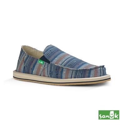 SANUK 條紋懶人鞋-男款(藍色)