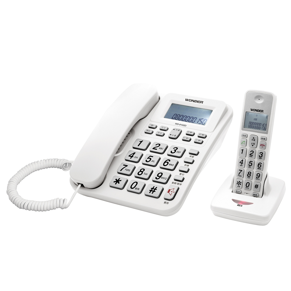旺德 2.4G高頻數位無線電話WD-9102D