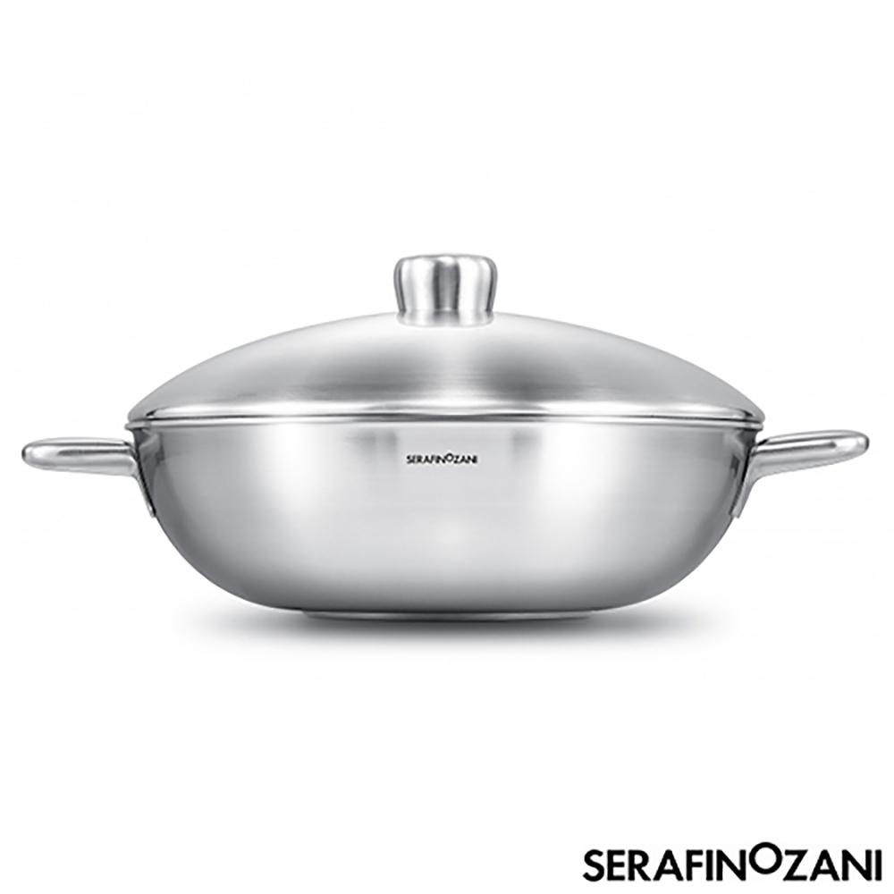 SERAFINO ZANI 恆溫系列雙耳不鏽鋼炒鍋34cm