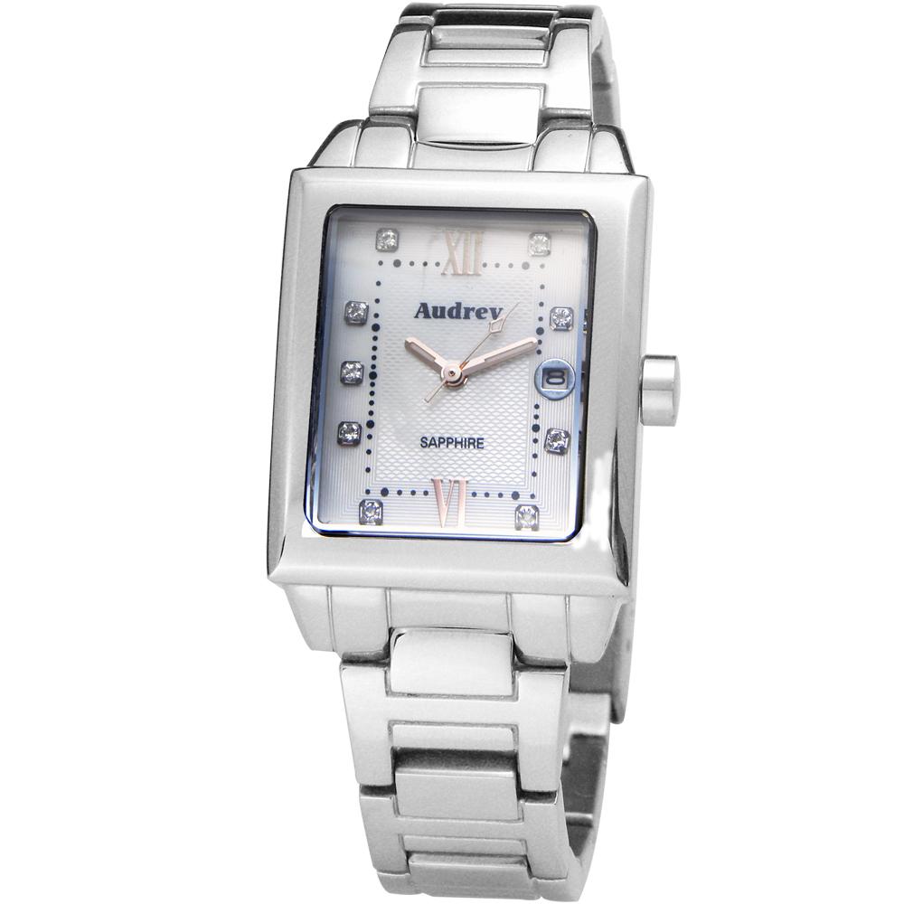 Audrey 歐德利 都會佳人 珍珠貝晶鑽女錶(AUB5658)-白x玫瑰金/25mm